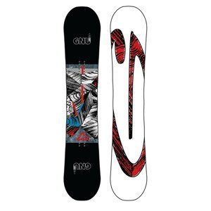 Snowboard GNU Asym Carbon Credit BTX Čierno-červená 159 cm