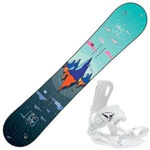 Snowboard GNU Asym Velvet C2 s viazaním Fastec 147 cm Bez viazania