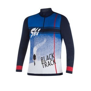 NEWLAND Man T-Neck Blue/White Bielo-modrá L