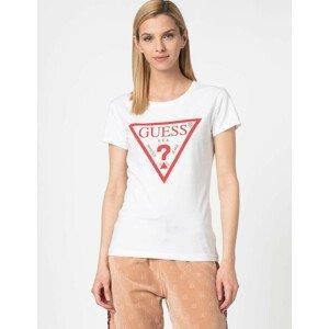 Dámske tričko GUESS White/Red Biela M