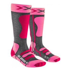 Ponožky X-SOCKS Ski 4.0 Anthracite Pink Antracitová 31-34
