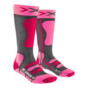 Ponožky X-SOCKS Ski 4.0 Anthracite Pink Antracitová 35-38