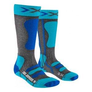 Ponožky X-SOCKS Ski 4.0 Anthracite Electric Blue Antracitová 35-38