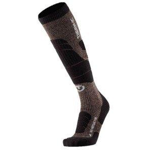 Ponožky THERM-IC Ski Merino Reflector Black/Gold Čierna 37-38