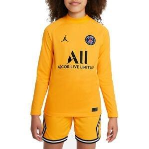 Dres s dlhým rukávom Jordan Paris Saint-Germain 2021/22 Stadium Goalkeeper Home Big Kids Long-Sleeve Soccer Jersey