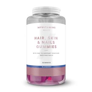 Gumové Cukríky Pre Zdravé Vlasy, Pokožku a Nechty - 30servings - Čučoriedka