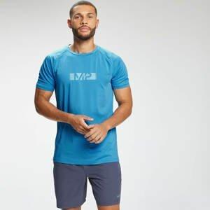 MP Men's Graffiti Graphic Training Short Sleeve T-Shirt - Bright Blue  - S