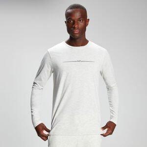 MP Men's Mini Mark Graphic Long Sleeve T-Shirt - Light Grey Marl - S