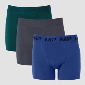 MP Men's Essential Boxers (3 Pack) - Deep Teal/Graphite/Intense Blue - S