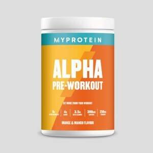 Predtréningový stimulant Alpha Pre-Workout - 600g - Orange & Mango