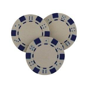 Poker žetón MASTER - biely