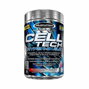 MuscleTech Cell Tech Hyper-Build 485 g modrá malina