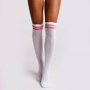 Beastpink Knee High Socks White  34 - 36