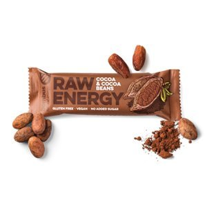 BOMBUS Raw energy 50 g kakaové bôby