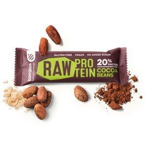 BOMBUS Raw protein bar 50 g kakaové bôby