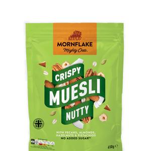 Mornflake Crispy Muesli Notoriously Nutty 650g