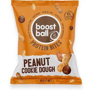 Boostball Boost Bites s pridaným proteínom 45 g arašidové sušienky
