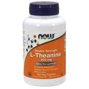 NOW® Foods L-Theanine s Inositolem Double Strength, 200 mg, 120 rastlinných kapsúl 120 kaps.
