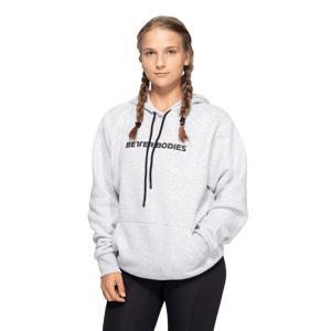 Better Bodies Hoodie Logo Light Grey Melange  M