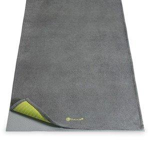 Gaiam Joga uterák na podložku GRAY/CITRON sivý