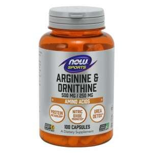 NOW Foods Arginine & Ornithine 100 kaps.