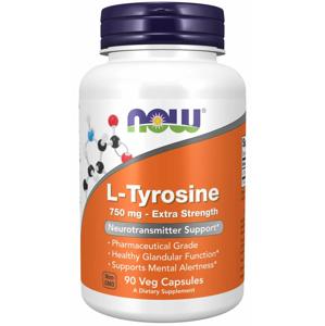 NOW Foods L-tyrozín 750 mg, extra silný 90 kaps.
