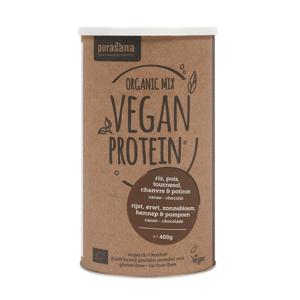 Purasana Vegan Protein Mix BIO 400 g vanilka