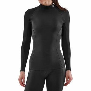 SKINS Dámske kompresné tričko Thermal Long Sleeve Series-3 Black  L