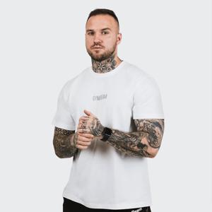 GymBeam Tričko FIT White  XXXL
