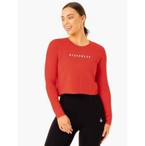 Ryderwear Dámske tričko Long Sleeve Top Foundation Red  M