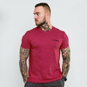 GymBeam Tričko Basic Berry Red  XL