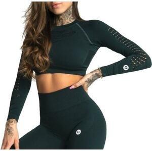 Tričko s dlhým rukávom Gym Glamour Gym Glamour Crop Top