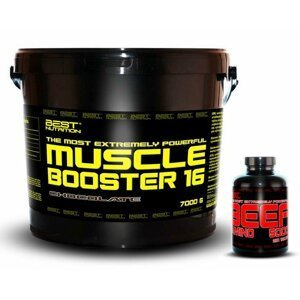 Muscle Booster + BEEF Amino Zadarmo - Best Nutrition 7,0 kg + 250 tbl. Jahoda