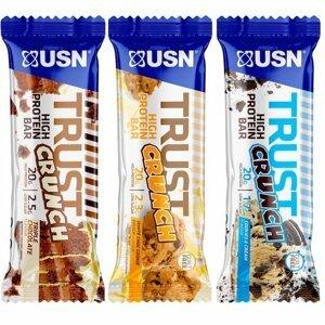 Tyčinka: Trust Crunch - USN 60 g Raspberry Cheesecake