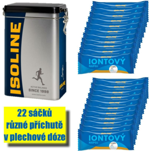 Nápoj Isoline ISOLINE ionic can 22 x 12,5 g