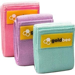 Posilovací guma GoldBee GoldBee Textile Resistance Band Set 3P