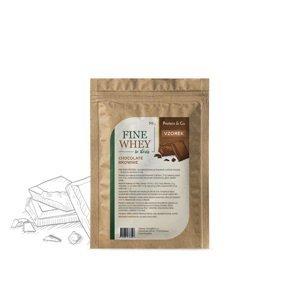 Protein&Co. FINE WHEY – prírodný proteín sladený stéviou 30 g Príchut´: Chocolate brownie
