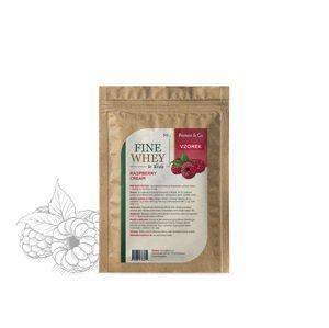 Protein&Co. FINE WHEY – prírodný proteín sladený stéviou 30 g Príchut´: Raspberry cream