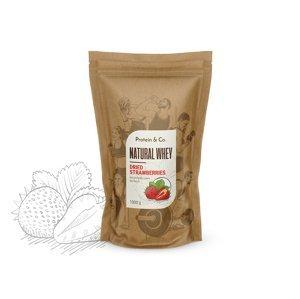 Protein&Co. Natural Whey 1 kg Príchuť: Pure raspberry, Váha: 1 000 g