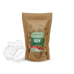 Protein&Co. Sójový proteín 1 kg Príchut´: Strawberry milkshake
