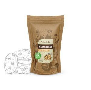 Protein&Co. Ketoshake - proteínový diétny koktail Príchut´: Biscuit cookie, Množstvo: 1000g