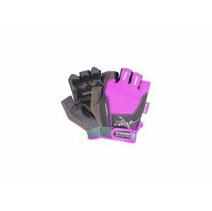 Fitness rukavice WOMANS POWER (POWER SYSTEM) Veľkosť: M, Barva: Fialová