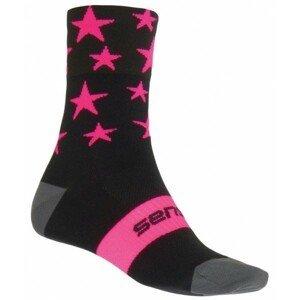 Sensor STARS ružová 39 - 42 - Cyklistické ponožky