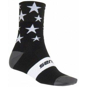 Sensor STARS čierna 3-5 - Cyklistické ponožky