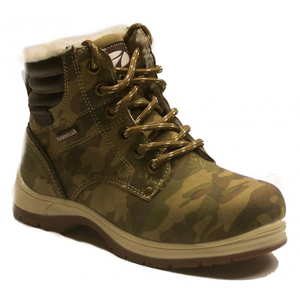 Numero Uno CAMEL ARMY KIDS tmavo zelená 33 - Detská zimná obuv