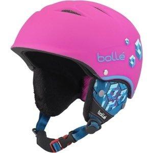 Bolle B-FREE ružová (53 - 57) - Detská lyžiarska prilba