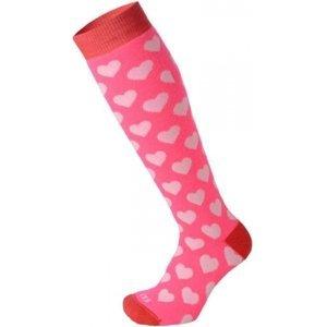 Mico KIDS PROTECTION ružová S - Juniorské  lyžiarske ponožky