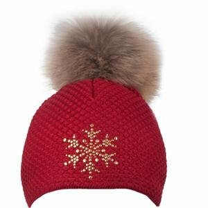 R-JET TOP FASHION BASIC červená UNI - Dámska pletená čiapka