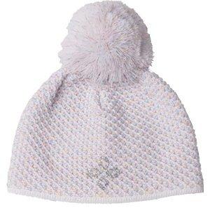 R-JET DIEVČATÁ DÚHOVÁ biela UNI - Detská pletená čiapka