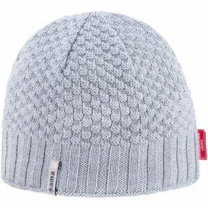 Kama ČIAPKA MERINO sivá UNI - Pletená čiapka